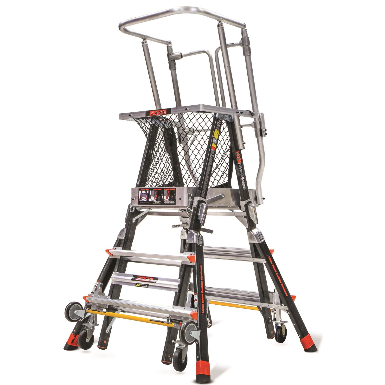 Aerial Safety Cage Ladder