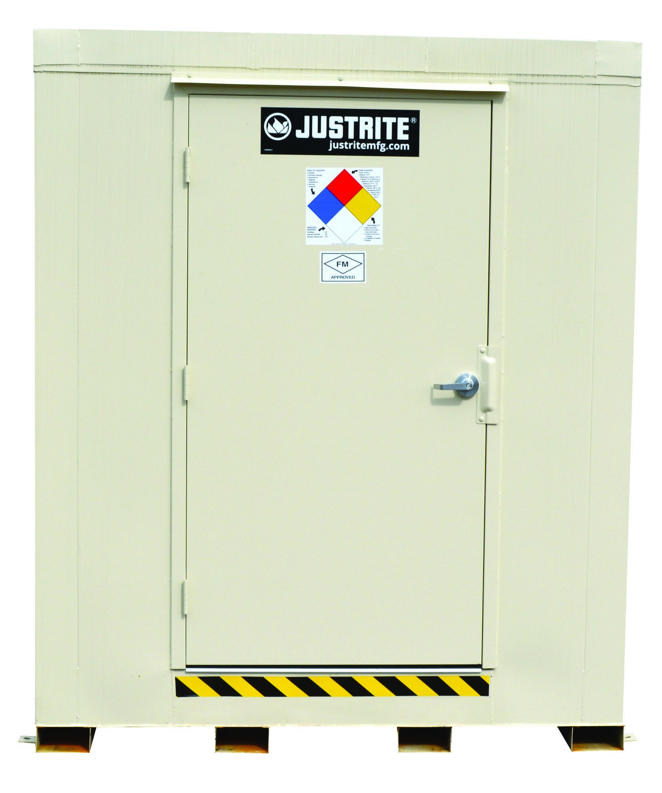 4-Hour Fire-Rated Outdoor Safety Locker, Explosion Relief Panels