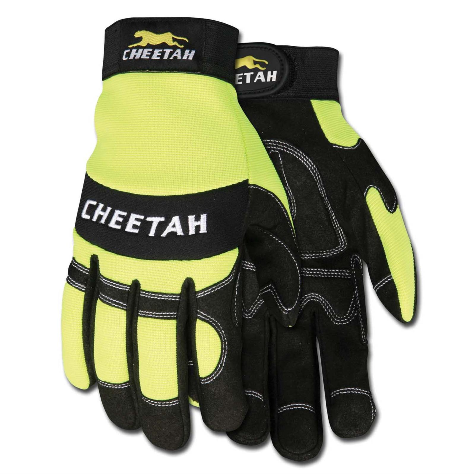 Cheetah Multi-Task Glove, Hi-Vis Lime