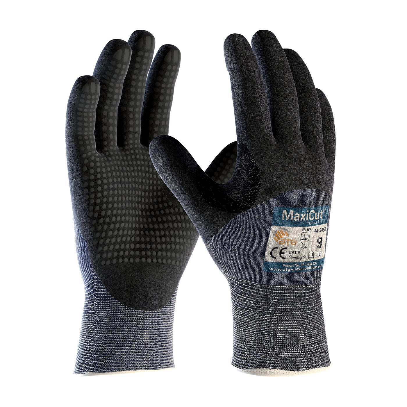 MaxiCut® Ultra™ 3/4 Dip Nitrile with Nitrile Dot Gloves