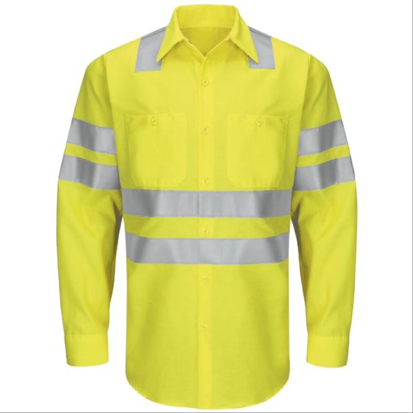 RedKap® Hi-Viz Long Sleeve, Ripstop Work Shirt, Type R Class 3