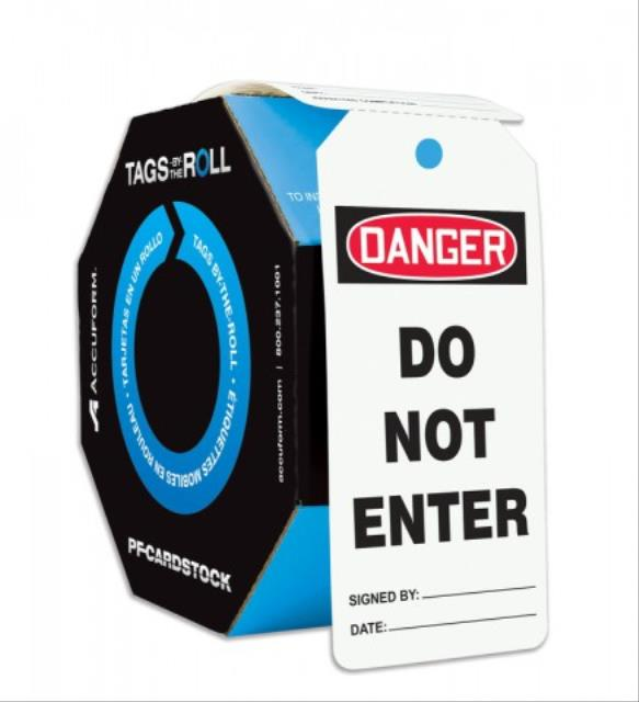 Tags By-The-Roll, General Safety Tags