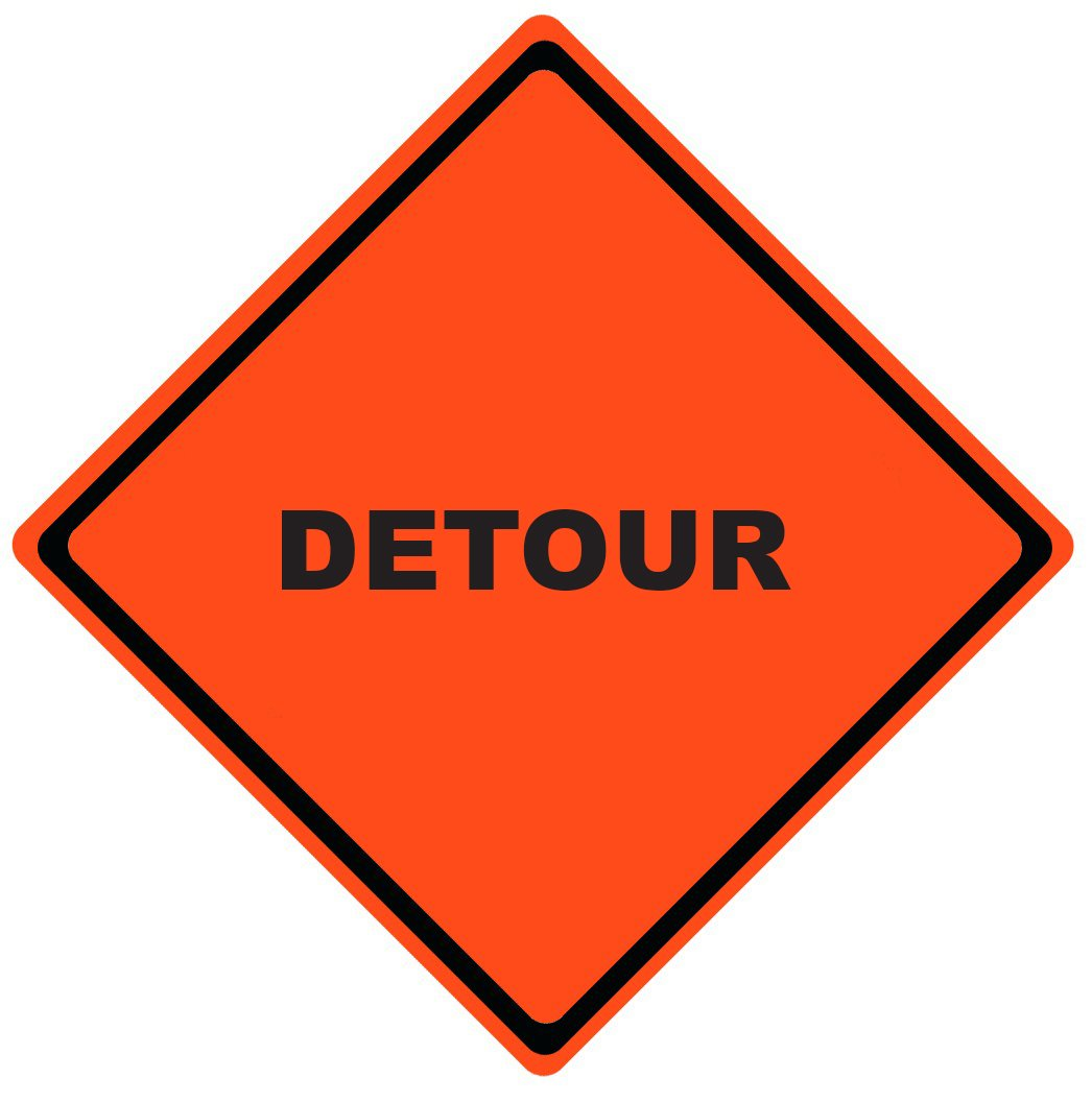 Detour Roll Up Work Zone Signs