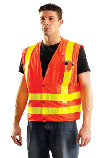 High Visibility Premium Mesh Vest, Class 2 Type R, Orange