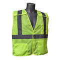 ANSI compliant vests for use in work areas where workers perform tasks that divert their attention from approaching traffic, or closely passing vehicles.  Custom vest screen printing available.