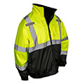 ANSI Type R, Class 3 bomber jackets offer high visibility to reduce the risk of being struck by a vehicle.