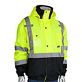 Outdoor workers need warmth, comfort and visibility when working in the colder temperatures.  View our selection of bomber jackets and ask about custom logos too!