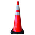 Traffic cones are used to rdirect vehicles or pedestrian traffic in work zones and emergency situations.