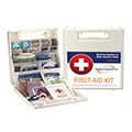 Respond to common injuries and illnesses in the workplace with the right first aid kit.  Treat minor wounds, burns, sprains, strains and eye injuries with bulk, unitized and speciality kits.
