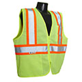 ANSI safety vests are intended for employees whose working environments pose a risk to their visibility. ANSI vests must meet requirements for reflective striping and safety yellow or safety orange background material.  Be safe and be seen.
