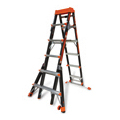 Industry regulations require ladder users working above a certain height to tie off to a suitable anchor point before they can work with both hands.  View our selection of industrial ladders.